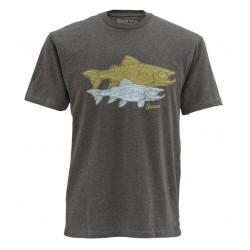 T shirt Tightlines Trout Charcoal Heather