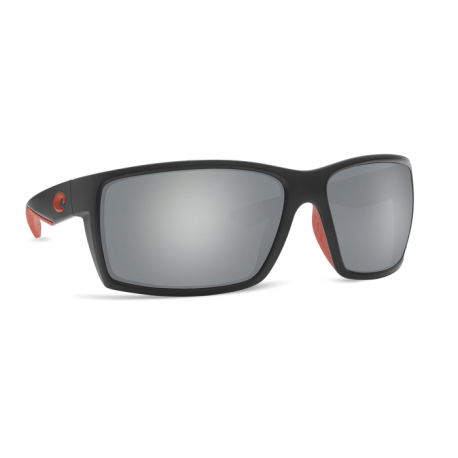 Lunettes polarisantes Costa REEFTON Race Black 580 Glass Gray Silver Mirror