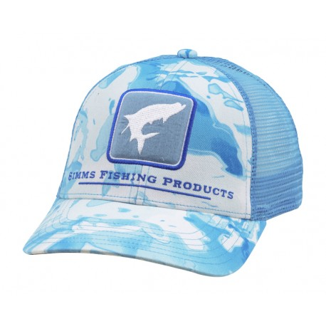 Casquette Tarpon Icon Trucker Cloud Camo Blue Simms